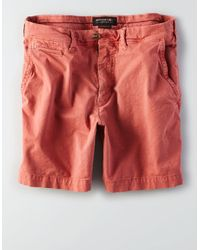 """American Eagle - Pink Ae Extreme Flex Slim 7"""" Flat Front Short for Men - Lyst"""