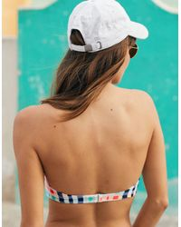 American Eagle - White Strapless Lightly Lined Bikini Top - Lyst