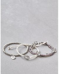 American Eagle - Metallic Grey Arm Party Bracelets - Lyst