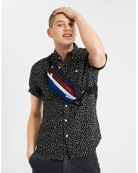 a5ebc09688d8 Lyst - American Eagle Ae Printed Poplin Button-down Shirt in Black ...