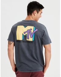 American Eagle - Black Ae X Mtv Graphic Tee for Men - Lyst