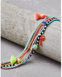 American Eagle - Metallic Neon Arm Party Bracelets - Lyst