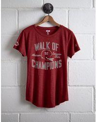 Tailgate Red Women's Alabama Walk Of Champions T-shirt