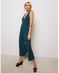 American Eagle - Blue Don't Ask Why Drapey Jumpsuit - Lyst