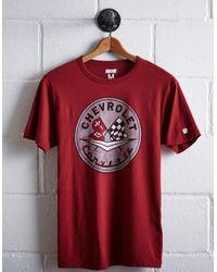 Tailgate Red Men's Corvette T-shirt for men
