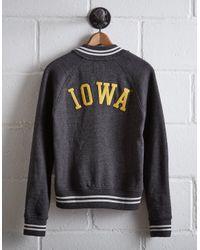 Tailgate Gray Women's Iowa Bomber Jacket