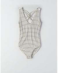 American Eagle - Multicolor Soft & Sexy Strappy Back Bodysuit - Lyst