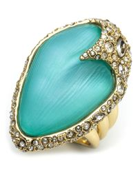 Alexis Bittar - Blue Lucite Encrusted Cocktail Ring - Lyst