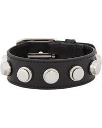 Saint Laurent - Black Classic De Force Bracelet for Men - Lyst