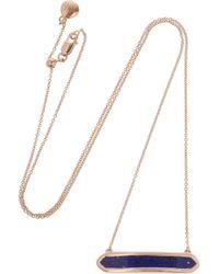 Monica Vinader | Blue Baja Rose Goldplated Lapis Lazuli Necklace | Lyst