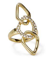 Alexis Bittar | Metallic Miss Havisham Encrusted Link Ring | Lyst