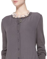 Lafayette 148 New York - Multicolor Clear Stone Collar Necklace - Lyst