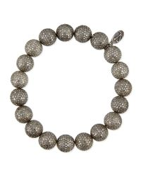 Sheryl Lowe - Metallic Pave Diamond Beaded Bracelet - Lyst