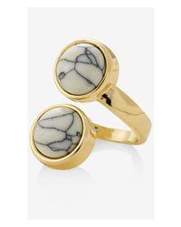 Express - White Stone Wrap Ring - Lyst