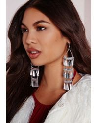 Missguided | Metallic Layered Statement Earrings | Lyst
