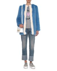 Shrimps - Blue Gloria Faux-Fur Coat - Lyst