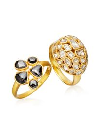 Pippa Small | Metallic Five Stone Black Diamond Ring | Lyst