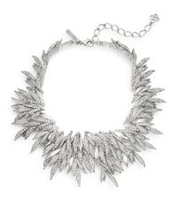 Oscar de la Renta | Metallic Swarovski Crystal Spike Collar Necklace/silvertone | Lyst