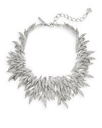 Oscar de la Renta - Metallic Swarovski Crystal Spike Collar Necklace/silvertone - Lyst