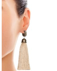 Lanvin - Natural Marina Swarovski-Embellished Earrings - Lyst