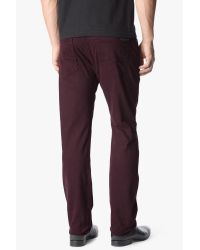 7 For All Mankind Brown Luxe Performance Sateen: The Straight for men