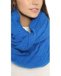 White + Warren | Blue Cashmere Travel Wrap | Lyst