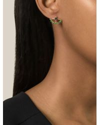 AIMEE AIMER | Green 'Beija Flor' Earrings | Lyst