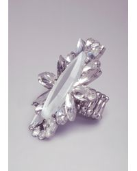 Bebe - Metallic Over The Top Faceted Ring - Lyst