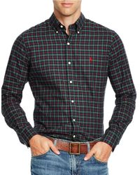 Polo Ralph Lauren | Green Checked Cotton Twill Shirt for Men | Lyst
