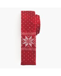 J.Crew | Italian Wool Tie In Classic Red Fair Isle for Men | Lyst