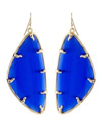 Kendra Scott | Blue Willow Cobalt Catseye Earrings | Lyst