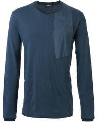 Stone Island - Blue Patch Detail Longsleeve T-shirt for Men - Lyst
