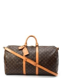 Louis Vuitton - Metallic Monogram Keepall 55 Bandou Travel Bag - Lyst