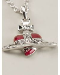 Vivienne Westwood | Red Heart Orb Necklace | Lyst