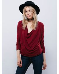 Free People - Red We The Free Womens We The Free No Stranger Tee - Lyst