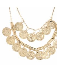 River Island | Metallic Girls Gold Tone Coin Layer Necklace | Lyst