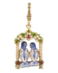 Jay Strongwater - Multicolor Lucy  Carl Lovebirds Charm - Lyst