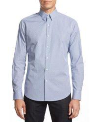 Theory - Multicolor 'sylvain' Trim Fit Jacquard Sport Shirt for Men - Lyst