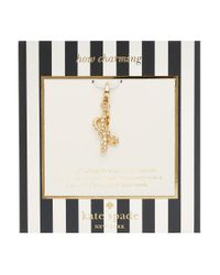 Kate Spade | Metallic How Charming Pave Tied Up Charm | Lyst