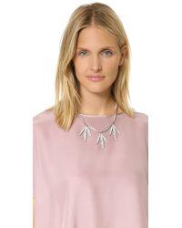 Lulu Frost | Metallic Datura Leaf Necklace - Clear | Lyst