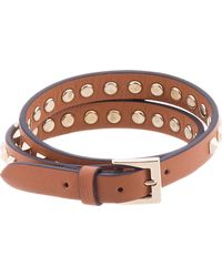 Valentino | Brown Tan Studded Wrap Bracelet for Men | Lyst