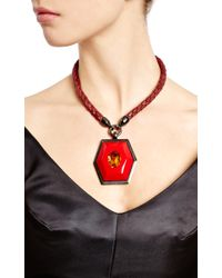 House of Lavande - Yves Saint Laurent Red Topaz Pendant Necklace - Lyst