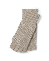 Polo Ralph Lauren | Natural Merino Wool Fingerless Gloves | Lyst