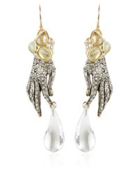 Alexis Bittar | Metallic Jardin Mystere Crystal Hand Earrings | Lyst