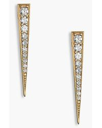 Lana Jewelry | Yellow 'fatale' Diamond Linear Earrings | Lyst