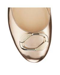Jimmy Choo - Garmeen Metallic Leather Ballet Flats - Lyst