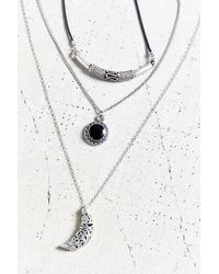 Urban Outfitters - Metallic Night Lights Layering Necklace Set - Lyst