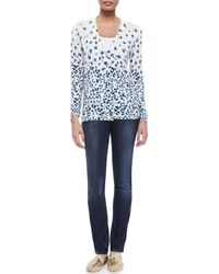 Tory Burch - Blue Skinny Basic Low-rise Jeans - Lyst