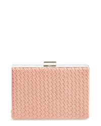 Natasha Couture | Pink Woven Box Clutch | Lyst
