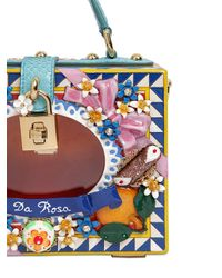 Dolce & Gabbana - Blue Dolce Bag Da Rosa Hand-painted Bag - Lyst